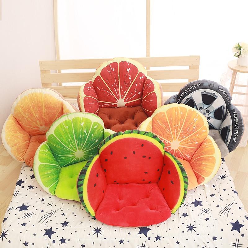 ثلاثية الأبعاد الفاكهة المطبوعة وسادة مقعد للأريكة الوسائد ، ديكور المنزل غطاء وسادة خصر ل أريكة كرسي ، المقعد الخلفي وسادة ألموفاداس Cojines