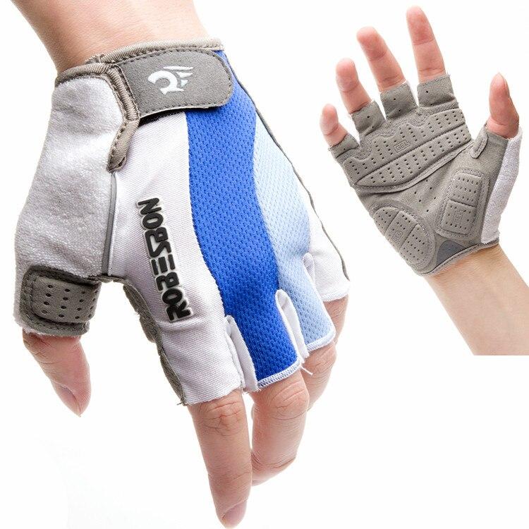 Guante de ciclismo de medio dedo para hombre y mujer, guantes transpirables...