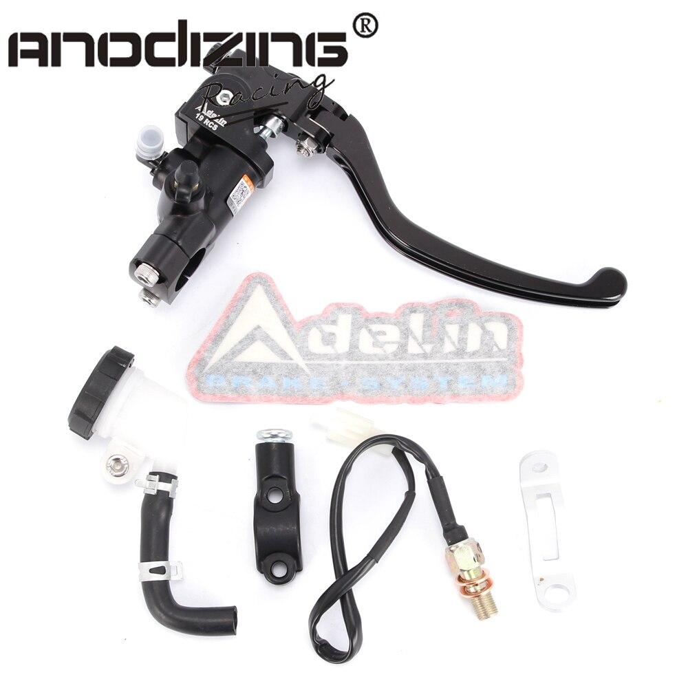 Тормоз мотоцикла Adelin главный цилиндр гидравлический для HONDA R1 R3 R6 FZ6 GSXR600 750 1000 NINJA250 ZX-6R Z750 Z800 MONSTER