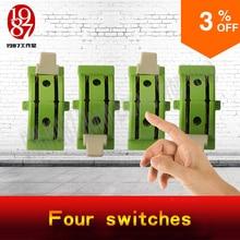 Takagism jogo prop vida real sala escapar adereços quatro interruptores ajustar os switches na engrenagem certa para desbloquear a partir de jxkj1987