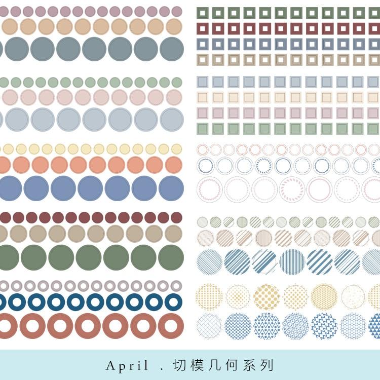 Moodtape washi fita dot tab fita de corte scrapbooking álbum diy decoração artesanal adesivo fita adesiva papel