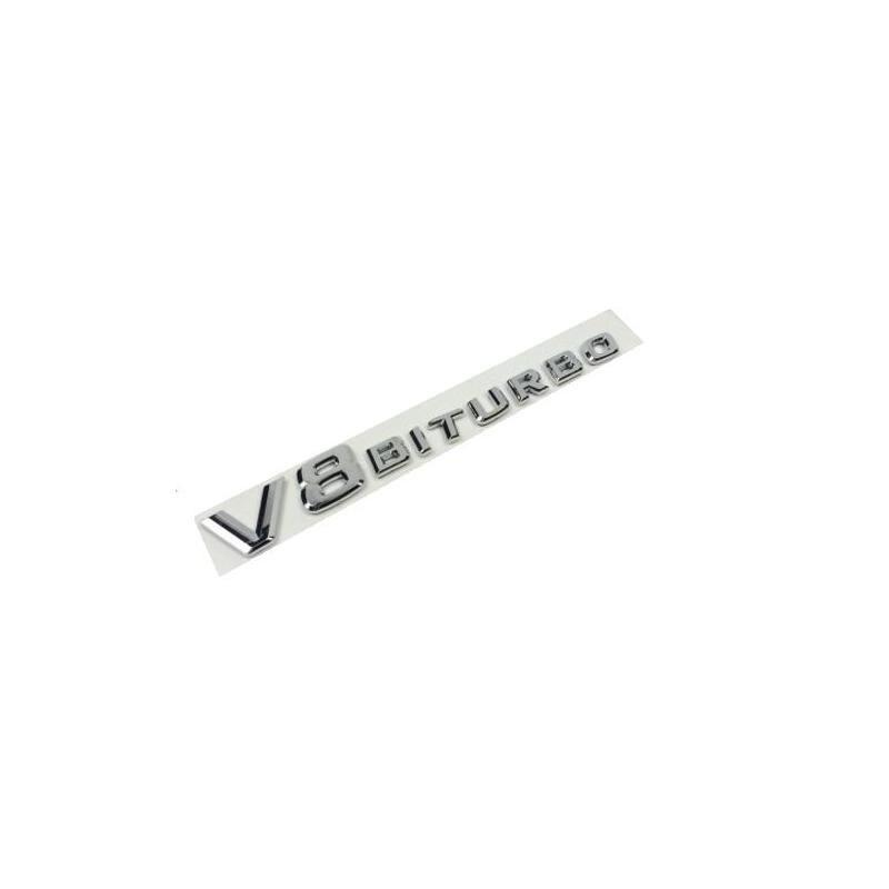 Plástico ABS Cromado V8biturbo Embleme Crachá Emblema Etiqueta Do Carro Emblema