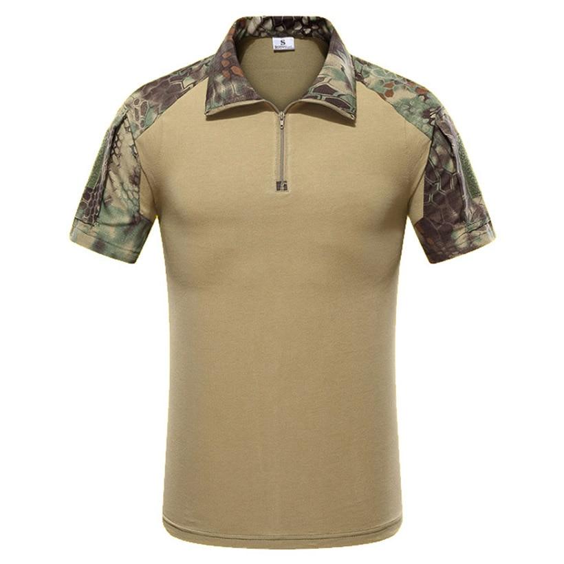 Verano militar táctico camiseta hombres ejército camuflaje combate manga corta Camiseta ropa militar Tactico camisetas ropa suave