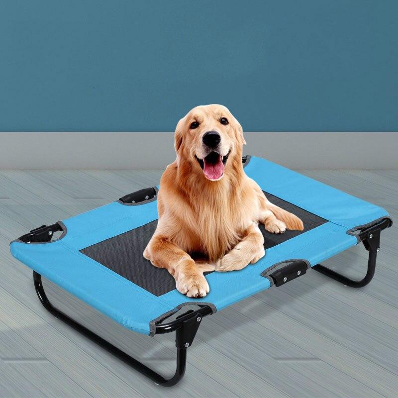 Suministros para mascotas de hierro forjado extraíble y lavable colchón transpirable para perro teddy golden hair Pet cama plegable portátil ZP4121604