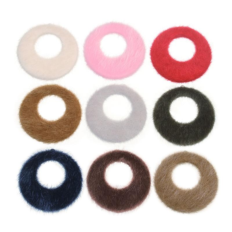 XINYAO 10pcs/lot 41mm Fake Rabbit Fur Pendant Earring Charms DIY Pom Pom Fur Charms Pendant For Necklace Bracelet Jewelry Making