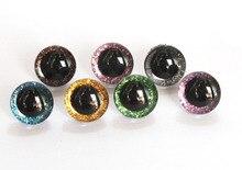 30 pcs/lot 18mm/20mm plastique clair jouet yeux + paillettes non-tissés + rondelle dure pour poupée en peluche