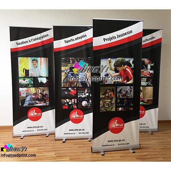 Muestra de moda de alta calidad 80X200CM Banner de pantalla enrollable, soporte de Banner extraíble, Banner de exhibición Stasnd