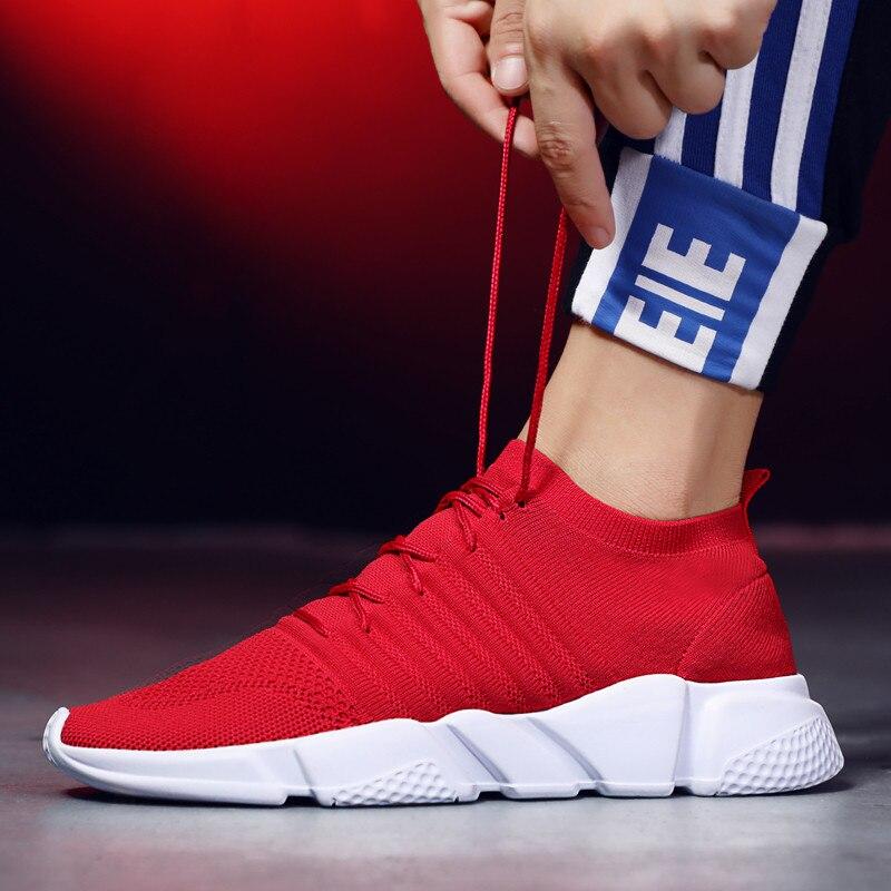 Zapatillas de correr para hombre, nuevo diseño de malla, zapatos de hombre con ondas voladoras, zapatos para caminar, zapatillas de hombre con cordones para deportes al aire libre, zapatos para hombre