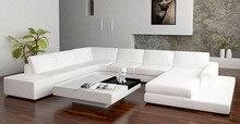 Neue design sofa U form sofa sets mit led licht