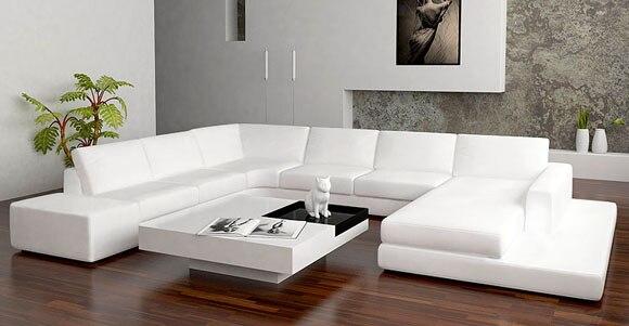 Nuevo diseño, sofá en forma de U, juegos de sofá con luz led