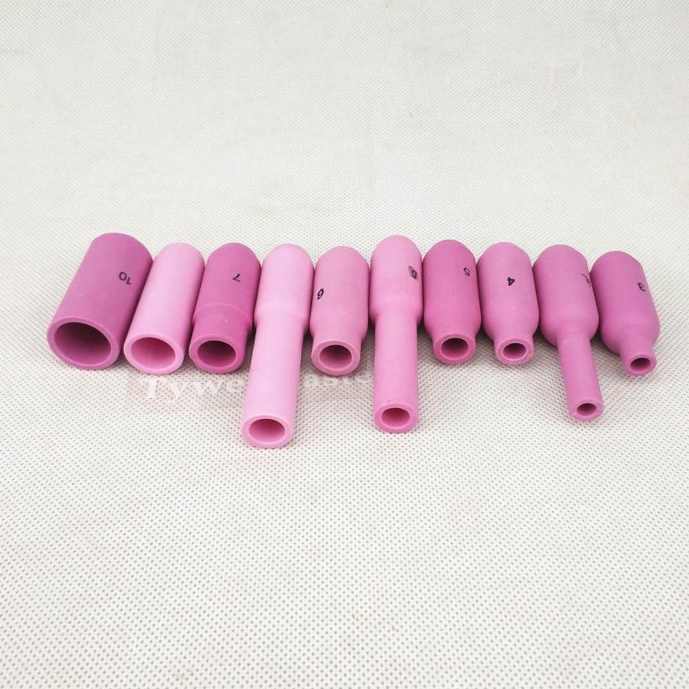 TIG Düsen Keramik Tasse #3/3L/4/4L/5/5L/6/6L/7/8/10 für WP17 WP18 WP26 Wig Brenner Alumina Düse