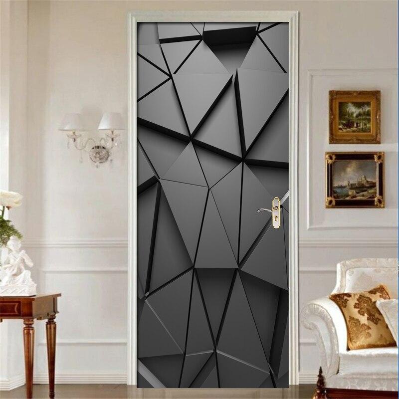 Porta adesivos diy 3d mural para sala de estar quarto decoração da sua casa cartaz pvc auto adesivo à prova dwaterproof água porta criativa decalques