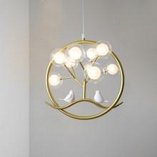 Lustre bague en cage à oiseaux, lustre en forme de cage à oiseaux, lampe au Design nordique, chandelier de branche en arbre, cuisine intérieure, salle à manger, Restaurant, Chandelier à halo