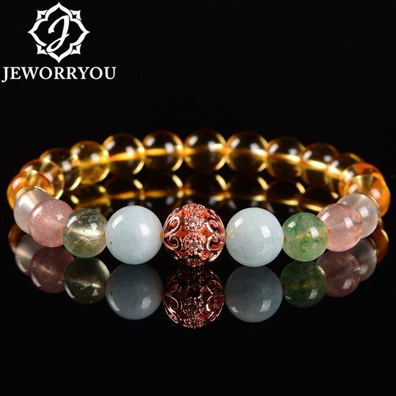 8mm Citrin Natürliche Kristall armbänder Natürliche stein perlen schönes geschenk für damen Freunde liebhaber perlen armbänder Kreative schmuck