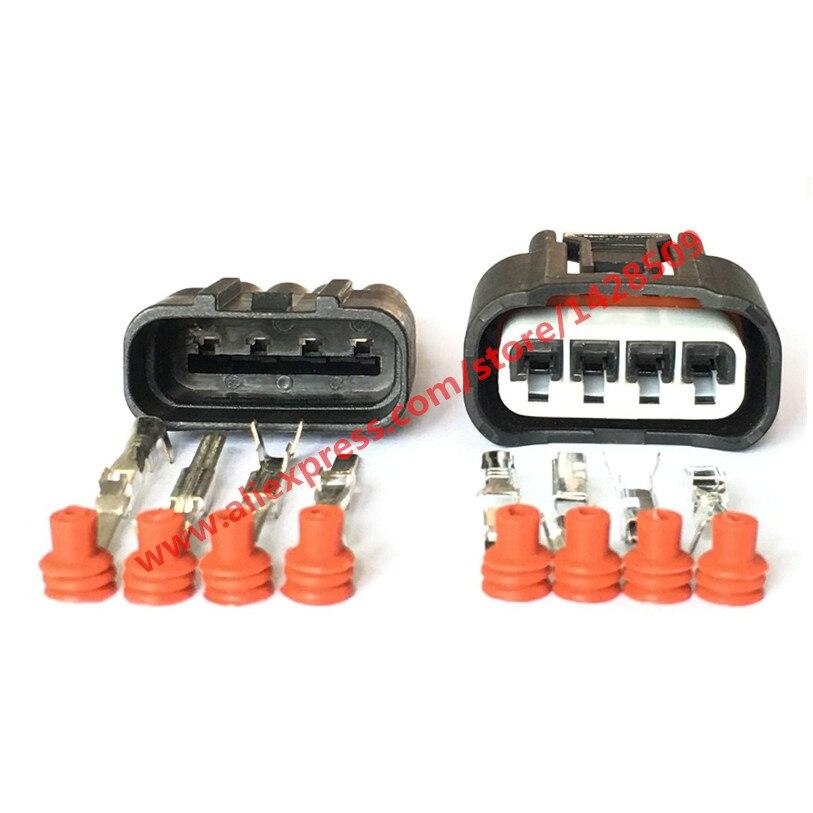 10 Sets 4 Pin Ignition Coil Plug 7283-7449-30 11885 Auto Connector For Toyota Carola Vios Corolla Camry Highlander RAV4