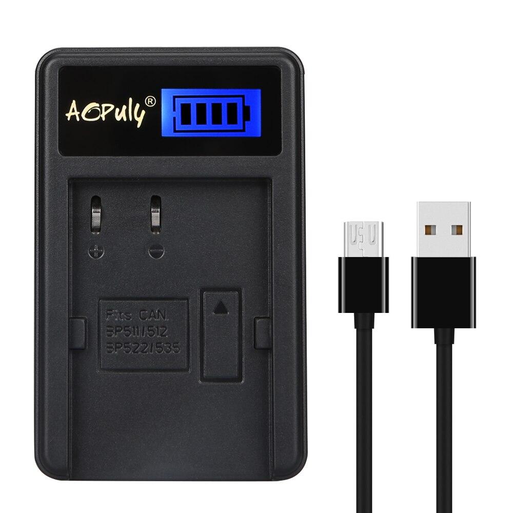 AOPULY batería canal USB cargador para Canon BP-511 BP-511A batería y Canon...