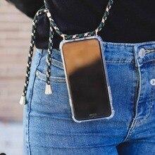 Coque de téléphone portable TPU transparente avec sangle cou épaule corde pour Samsung S10 celulaire S10 Plus Lite S9 S8 Galaxy Note 8 Note 9