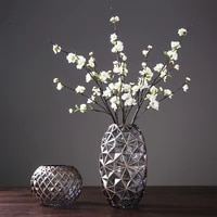 american glass vase decoration home decoration table decoration vase hand painted gold vase