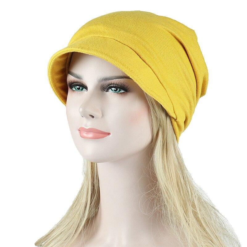 HanXi Beret Cotton Hat Visor for Women Winter Beanie Korean Style Solid Chemo Hat Spring Travel Cap Fishermen Hat Breathable