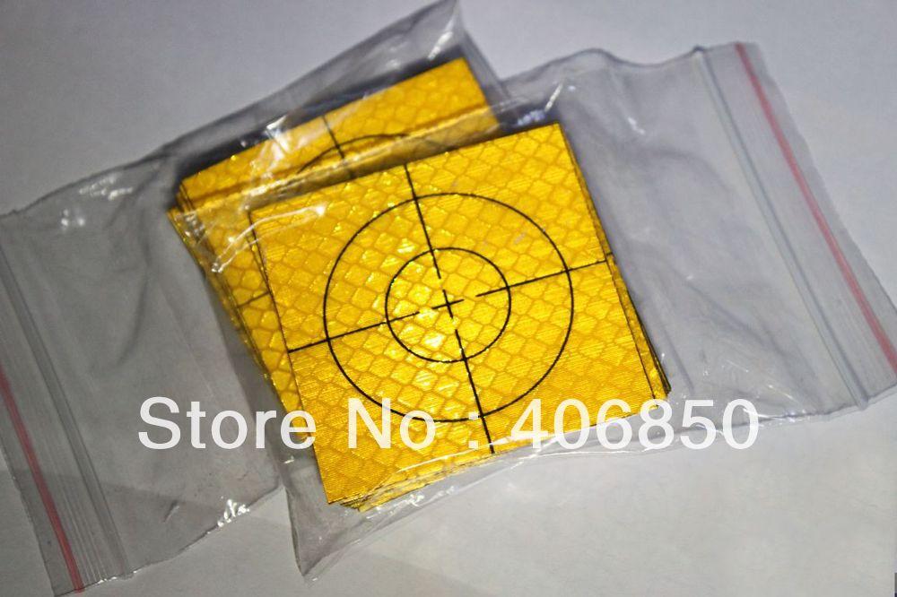 100 piezas de Hoja reflectante amarilla 60x60mm para la estación Total
