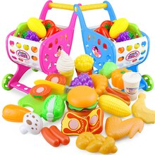 22 pièces cuisine jouet panier ensemble semblant jouer maison en plastique coupe fruits légumes Miniature nourriture filles jouets éducatifs