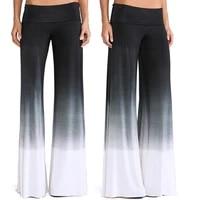 flat women high waist long straight pants casual elastic pants length trousers wide leg pants pantalon femme
