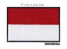 """Endonezya demir on nakış bayrağı yamalar logolar 3 """"geniş/futbol yama/anarşi yamalar/yeniden dand beyaz yama"""