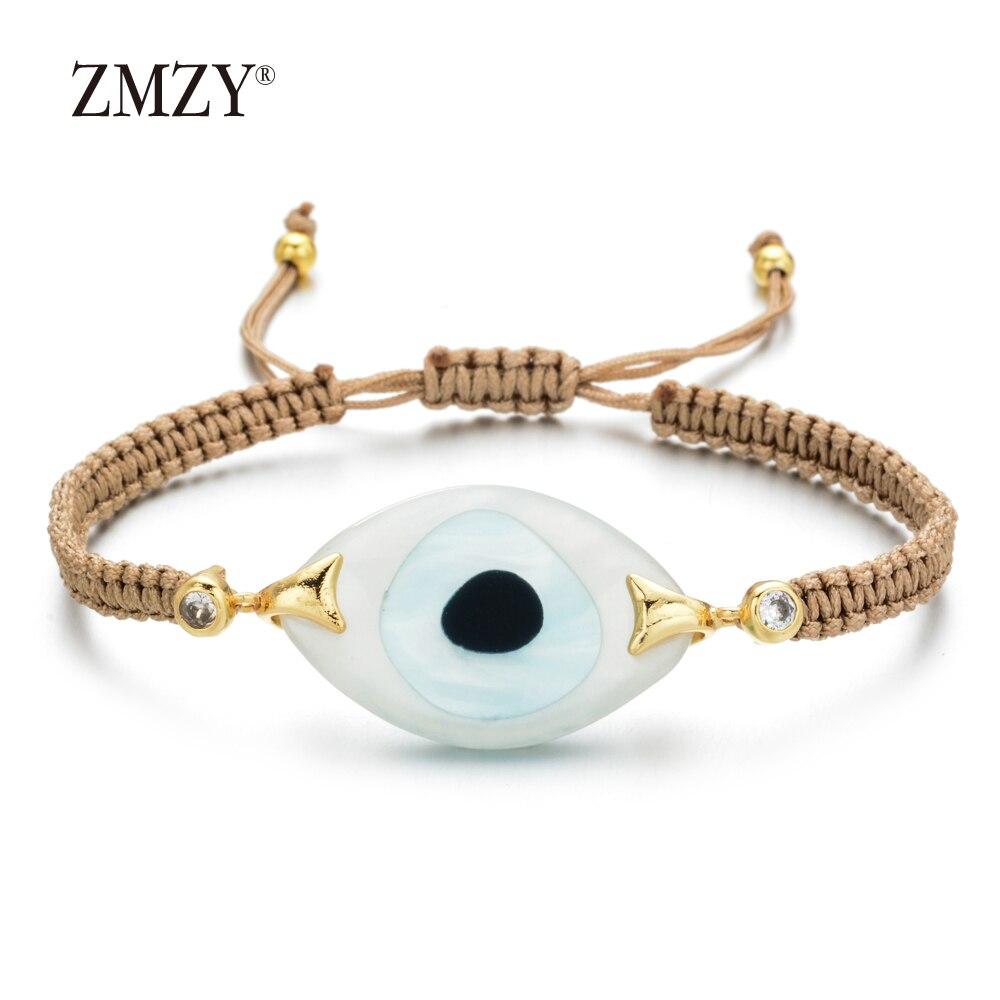 ZMZY Boho Style mauvais œil Bracelet charme cristal fait à la main de luxe Bracelet grands Bracelets et Bracelets pour femmes bijoux