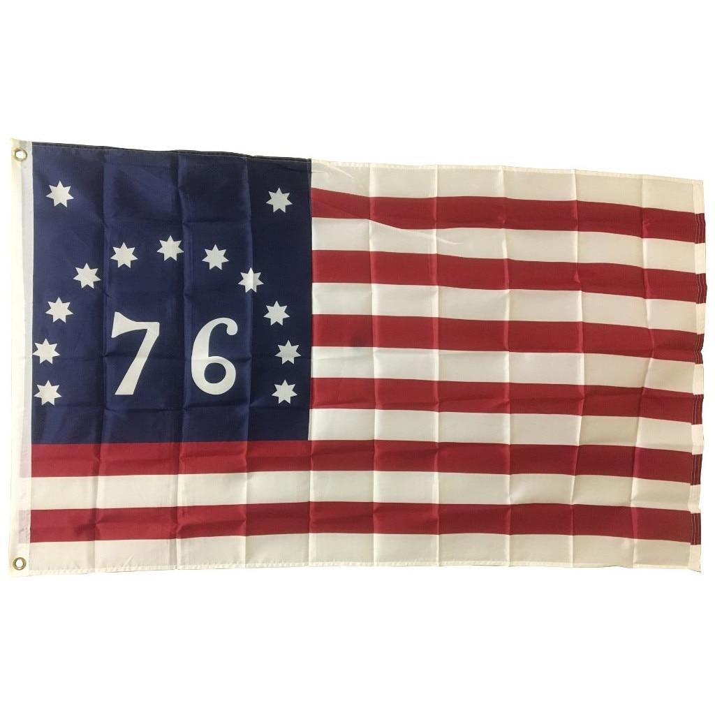 4th of July independência decoração dia 3x5 Bennington (76) Bandeira Bandeiras Americanas # C