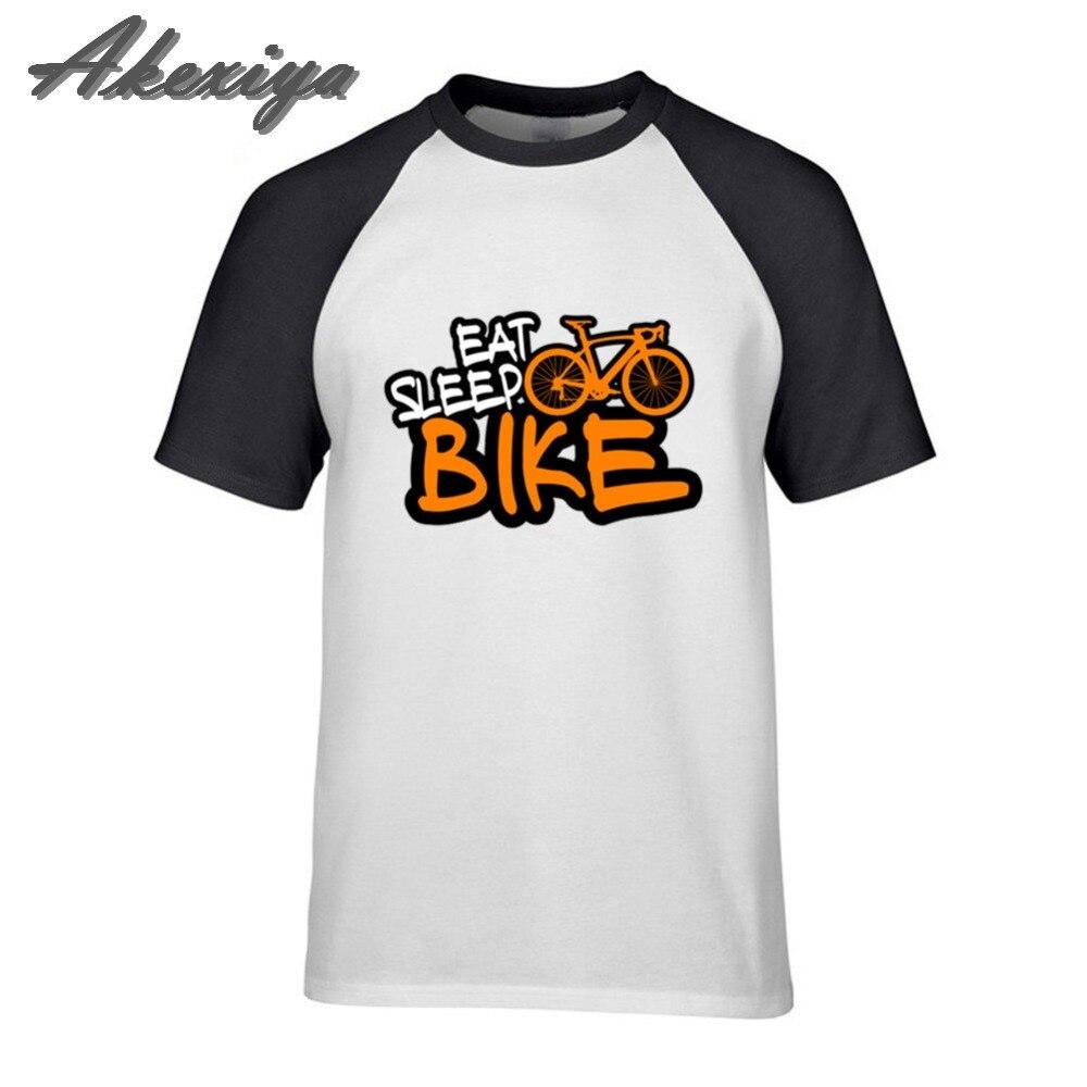 2019 moda streetwear Eat Sleep Bike MTB Dirt Bike Motocross hombres camisetas blanco azul 100% algodón o-cuello camiseta masculina divertida