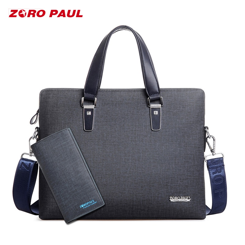 ZORO PAUL 2018 maletin bandolera hombre portadocumentos maletin portatil bolsos cuero hombre bolso Del Mensajero bandolera ZR2068-4