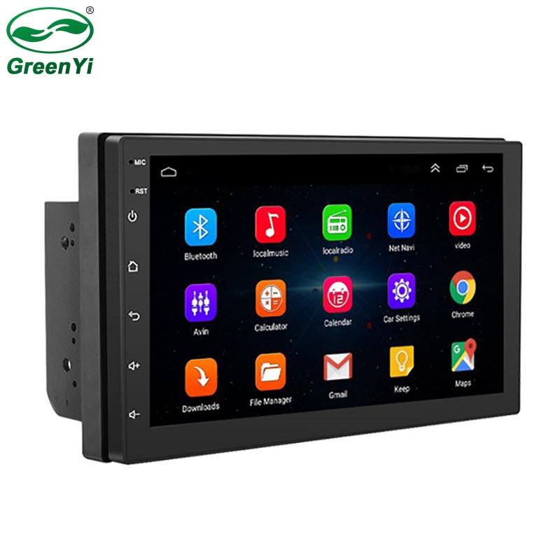 HD 7 pulgadas 1024*600 2 Din Android 9,1 unidad de radio estéreo Bluetooth GPS Wifi coche DVD PC de mesa de coche Universal reproductor Multimedia