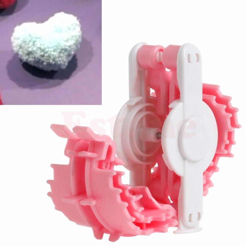 Herramienta para hacer pompones con forma de corazón bola de pelusa tejido de bebé herramienta pequeña 50mm