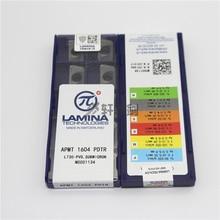 APMT1604 PDTR LT30 APMT1135PDTR LT30 10pcs LAMINA technologieën PVD submicron CNC hardmetaal Frezen mes