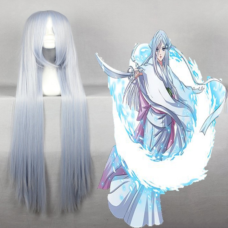 Anime Cosplay BLEACH peluca Sode No Shirayuki Cosplay pelucas resistentes al calor sintéticas Halloween carnaval fiesta Hiar pelucas
