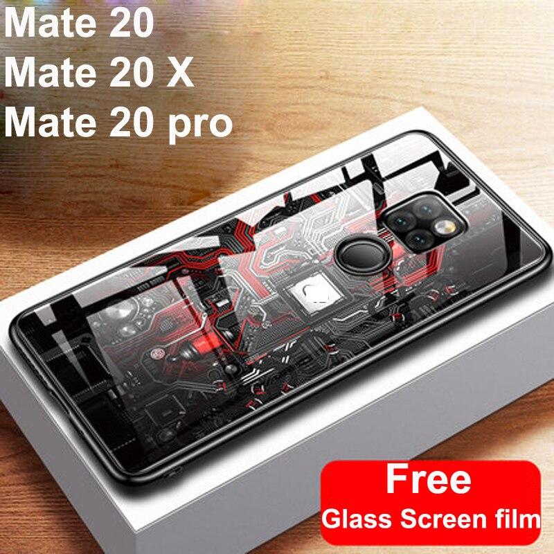 Nuevo para Huawei Mate 20 pro X funda de vidrio templado para Huawei Mate20 pro X Carcasa protectora mate 20pro 20X Shell