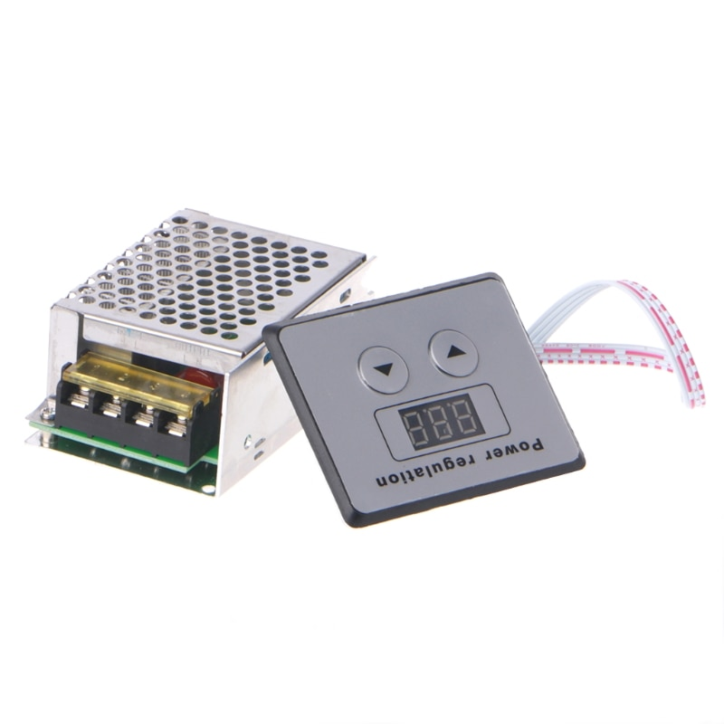 Светодиодный дисплей AC 220V 4000W SCR регулятор напряжения управления Затемнением Диммеры термостат регулятор скорости двигателя Температура L15