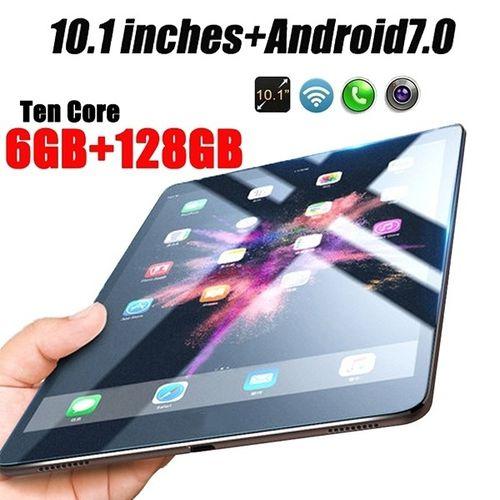 New Original 10.1 Inches  Dual SIM 3G Phone Tablet  WIFI Andriod 7.1 Ten Core 6G RAM+16/64/128G ROM Tablet  Dual  GPS Phone Pad