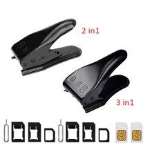 UANME 2 en 1/3 en 1 Micro SIM à Nano Mano coupeur de carte Sim pour iPhone X 8 7 6 6 S Plus 5 S 5 5C SE/Samsung & éjecter la clé à broche