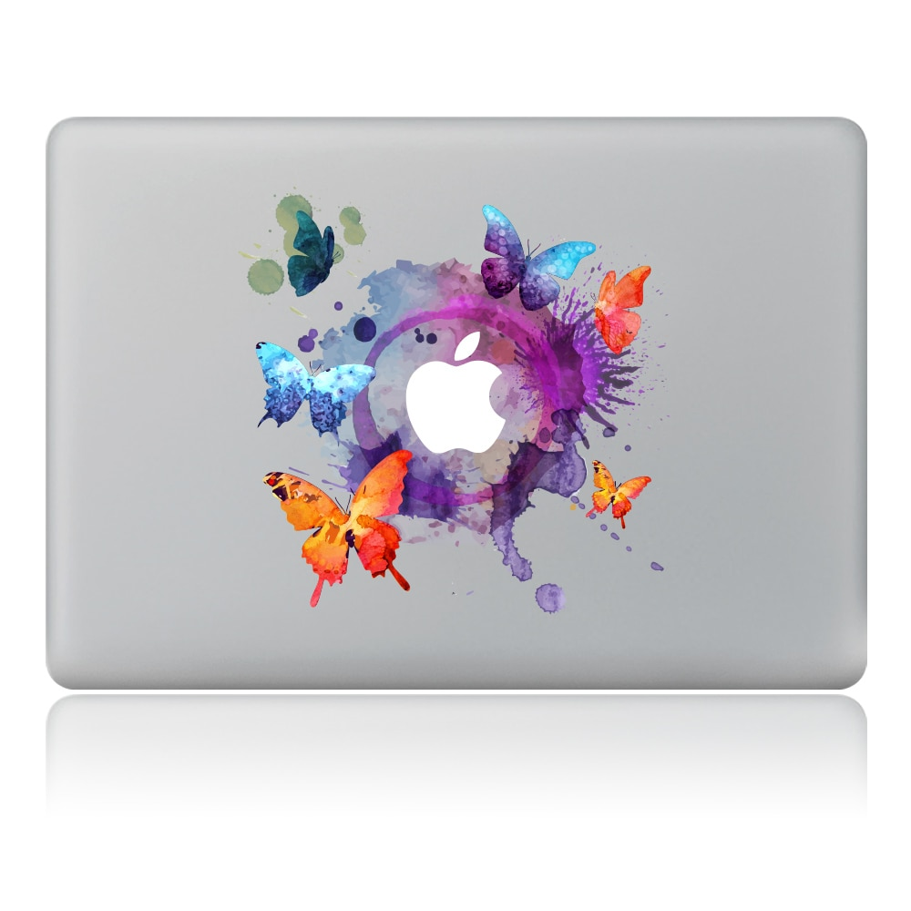 Ink painting of butterflies flying around Vinyl Decal Laptop Sticker For DIY Macbook Pro Air 11 13 15 inch Laptop Skin