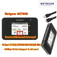 lot of 20pcs original packag netger ac790s 4g cat6 300 mbps mobile touch screen router plus antenna