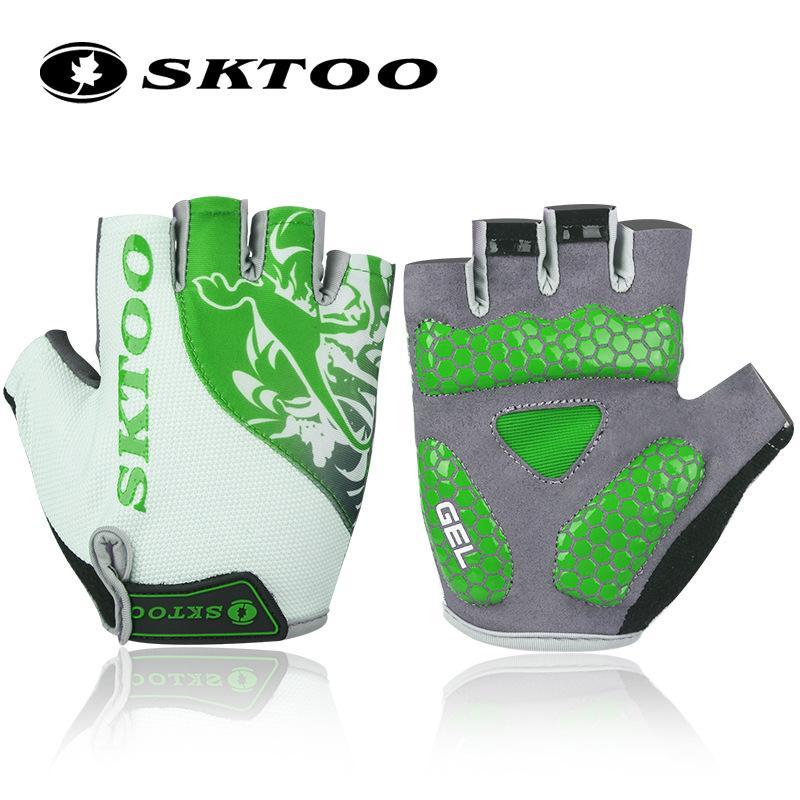 SKTOO-guantes de ciclismo de medio dedo para hombre, resistentes a impactos, para...