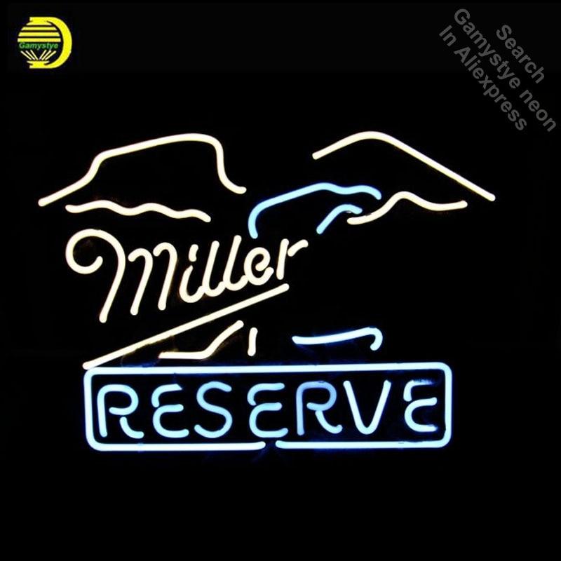 Неоновая вывеска для Миллера неоновая лампочка с логотипом знаковая ручной