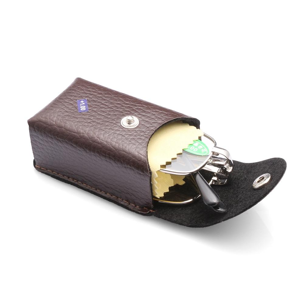 Gafas de lectura plegables de Metal portátiles con estuche, gafas magnéticas de presbicia Sin borde, gafas, gafas + 1,0 ~ 4,0