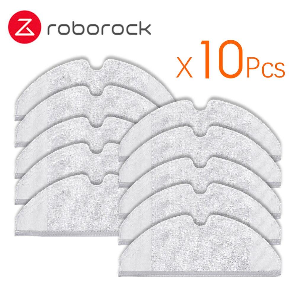 10 Pcs Geeignet für Xiaomi Roborock Roboter S50 S51 Staubsauger Ersatzteile Kit Mop Tücher Generation 2 Trocken Nass wischen Reinigung