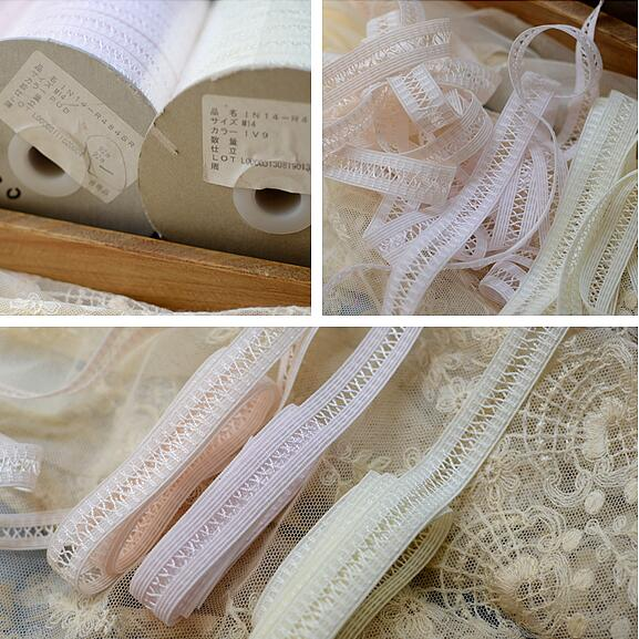 5 metros/lote 1,4 cm de ancho amarillo naranja Rosa tela de encaje elástico DIY costura de accesorios para ropa cinta de encaje de boda de corte suizo