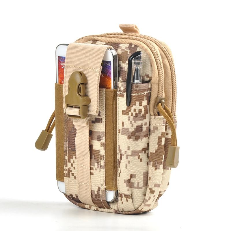 Men Military Tactics Waist Bag Nylon Waterproof  Waist Pack Hanging Work Fanny Pack Army  Storage Bags Molle Waist Bags
