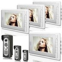3v4 7 inch monitor water proof ip66 wired intercom video door phone