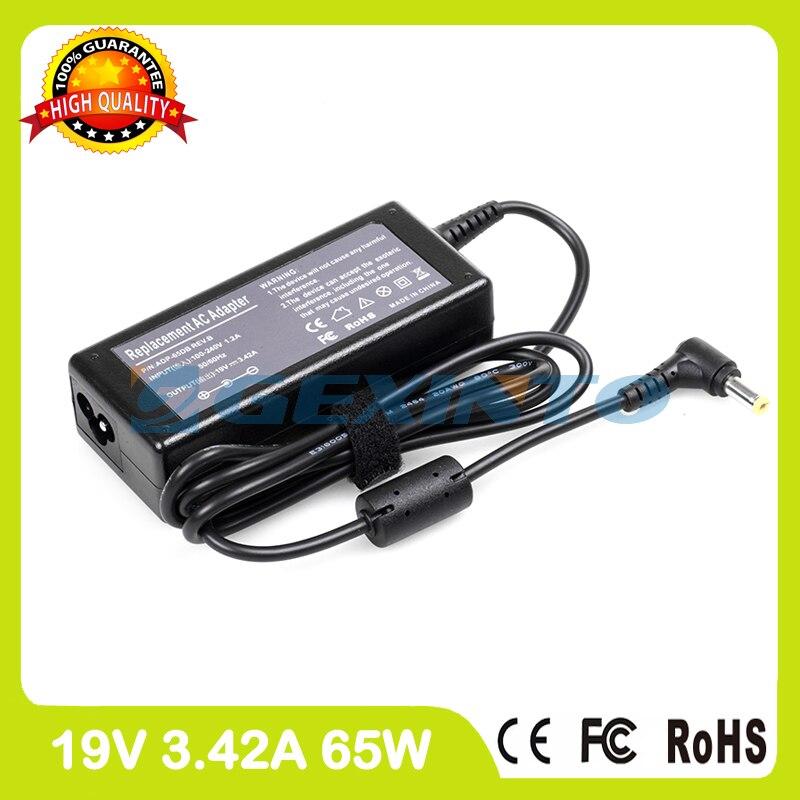 19V 3.42A 65W cargador del ordenador portátil adaptador de CA AP.06501.009 91.44G28!...