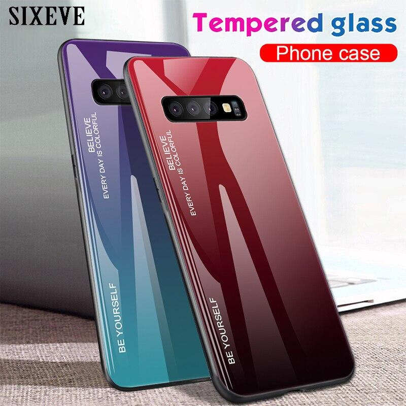 Vidrio templado para Samsung Galaxy S8 S9 S10 Plus Nota 8 9 A10 A20E A30 A40 A50 A60 A70 A5 A7 2017 A6 A8 J4 J6 J8 2018 cubierta
